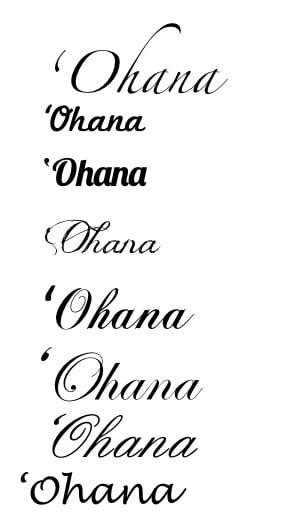 Ohana Tattoo Designs On Back Ohana